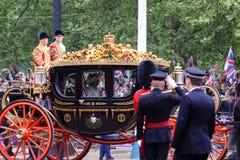 Principe Charles & Camilla alla cerimonia nuziale reale 2011 Fotografia Stock