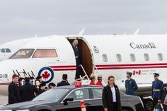 Principe Charles arriva nel Canada Fotografia Stock Libera da Diritti