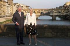 Principe Charles dell'Inghilterra e la sua moglie Camilla Parker Bowles, duchessa di Cornovaglia fotografie stock libere da diritti