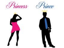 Principe e principessa illustrazione di stock