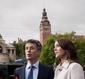 Principe ereditario Frederik della Danimarca e principessa Mary Fotografie Stock Libere da Diritti