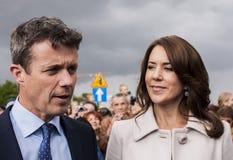 Principe ereditario Frederik della Danimarca e principessa Mary Immagini Stock Libere da Diritti