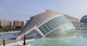 Principe Felipe 4k spagna del museo di scienza della luce del sole di tempo di giorno di Valencia video d archivio