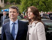 Principe Frederik della Danimarca e principessa Mary visitano la Polonia Fotografia Stock