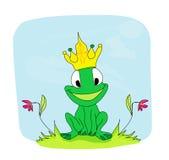 Principe personaggio dei cartoni animati della rana Immagini Stock