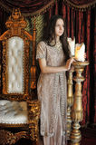 Principessa accanto al trono Immagini Stock