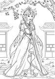 Principessa asiatica illustrazione di stock