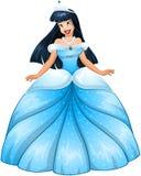 Principessa asiatica in vestito blu Fotografie Stock Libere da Diritti