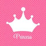 Principessa Background con l'illustrazione di vettore della corona Fotografie Stock Libere da Diritti