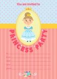 Principessa Birthday Party Illustrazione Vettoriale