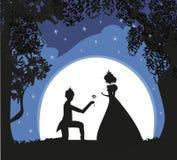 Principessa con principe royalty illustrazione gratis