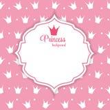 Principessa Crown Background Vector Illustration. illustrazione di stock