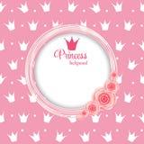 Principessa Crown Background Vector Illustration. illustrazione vettoriale