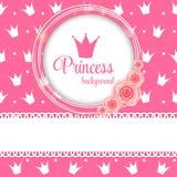 Principessa Crown Background Vector Illustration Fotografie Stock