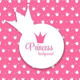 Principessa Crown Background Vector Illustration Fotografia Stock Libera da Diritti