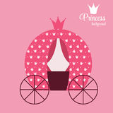 Principessa Crown Background Vector Illustration royalty illustrazione gratis