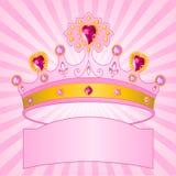 Principessa Crown su priorità bassa radiale Immagini Stock