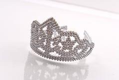 Principessa Crown su vetro immagine stock