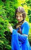 Principessa dell'elfo in giardino verde Fotografia Stock Libera da Diritti