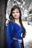 Principessa dell'elfo nella foresta di inverno Fotografia Stock Libera da Diritti