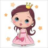 Principessa di fiaba della cartolina d'auguri illustrazione vettoriale