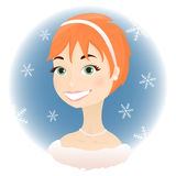 Principessa di inverno Immagini Stock