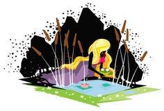 Principessa e la rana Fotografia Stock