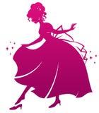 Principessa e la sua scarpa illustrazione di stock