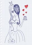 Principessa e rana Immagini Stock