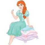 Principessa ed il pisello royalty illustrazione gratis