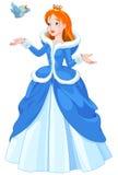 Principessa ed uccello royalty illustrazione gratis