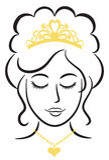 Principessa elegante With Tiara/ENV Fotografia Stock