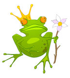 Principessa Frog del personaggio dei cartoni animati Fotografie Stock Libere da Diritti
