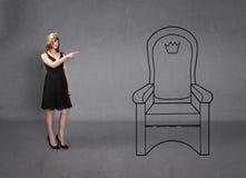 Principessa ha indicato il trono fotografia stock
