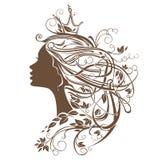 Principessa Hairstyle illustrazione vettoriale