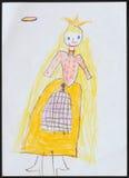 Principessa Illustrazione del bambino immagine stock