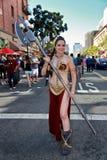 Principessa Leia Star Wars Female Cosplayer Fotografie Stock