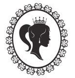 Principessa nel telaio royalty illustrazione gratis