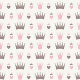 Principessa Seamless Pattern Background Fotografie Stock Libere da Diritti