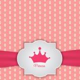 Principessa Seamless Pattern Background Immagini Stock