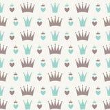 Principessa Seamless Pattern Background Fotografia Stock