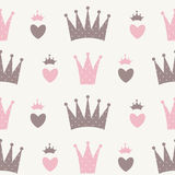 Principessa Seamless Pattern Background Fotografie Stock