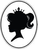 Principessa Silhouette della ragazza Fotografia Stock