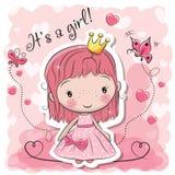 Principessa sveglia di fiaba del fumetto royalty illustrazione gratis