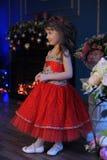 Principessa in vestito rosso Immagini Stock Libere da Diritti