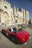 Principesse di Le Rallye des o raduno delle principesse, Sylvie Tellier, sig.na France 2002 con Anne Curtat nella loro Alpha Rome Fotografia Stock