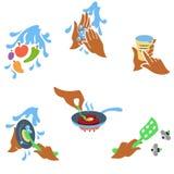 Principi di insieme uno di igiene degli alimenti Royalty Illustrazione gratis