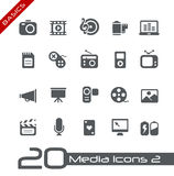 Principi fondamentali di // delle icone di multimedia Fotografia Stock Libera da Diritti