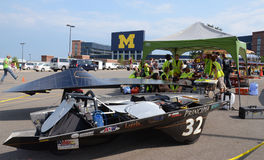 Principia College car at American Solar Challenge Royalty Free Stock Images