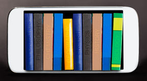 Principiante educativo de la literatura en e-libros imagenes de archivo